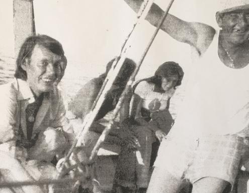 Fabrizio De André su un Peschereccio nei lidi Ravennati